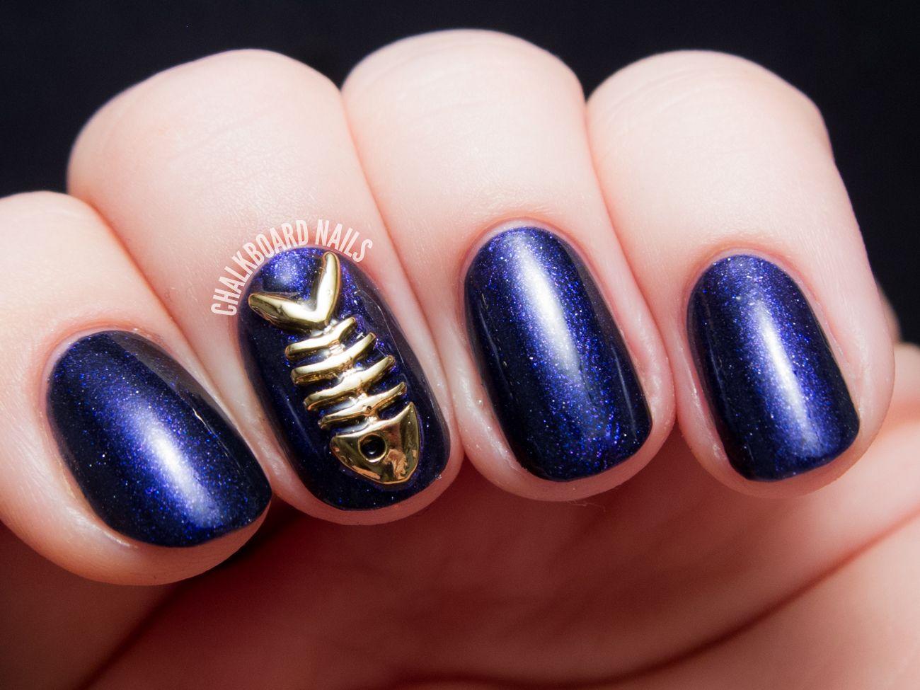 Baptisia and Bones | Chalkboard Nails | Nail Art Blog