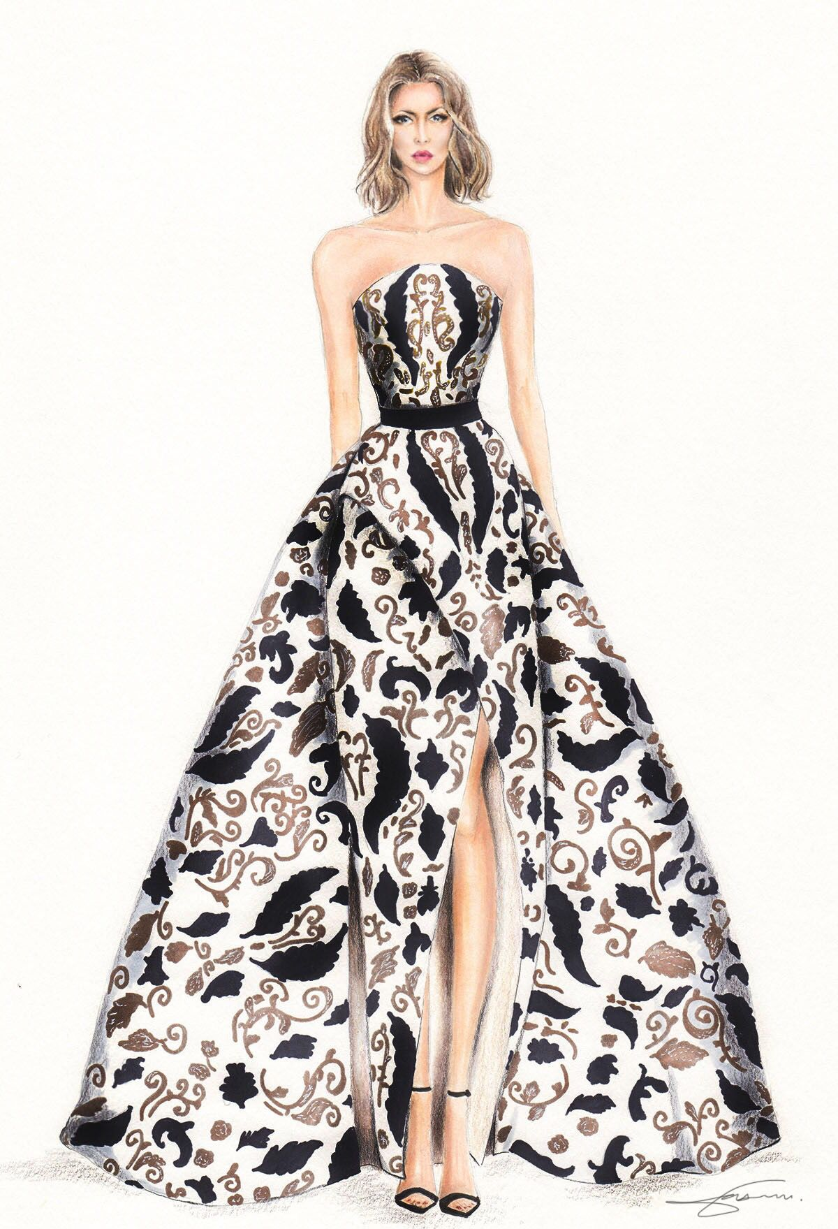 Fashion Illustration By Olivia Elery Inspiration Ashi