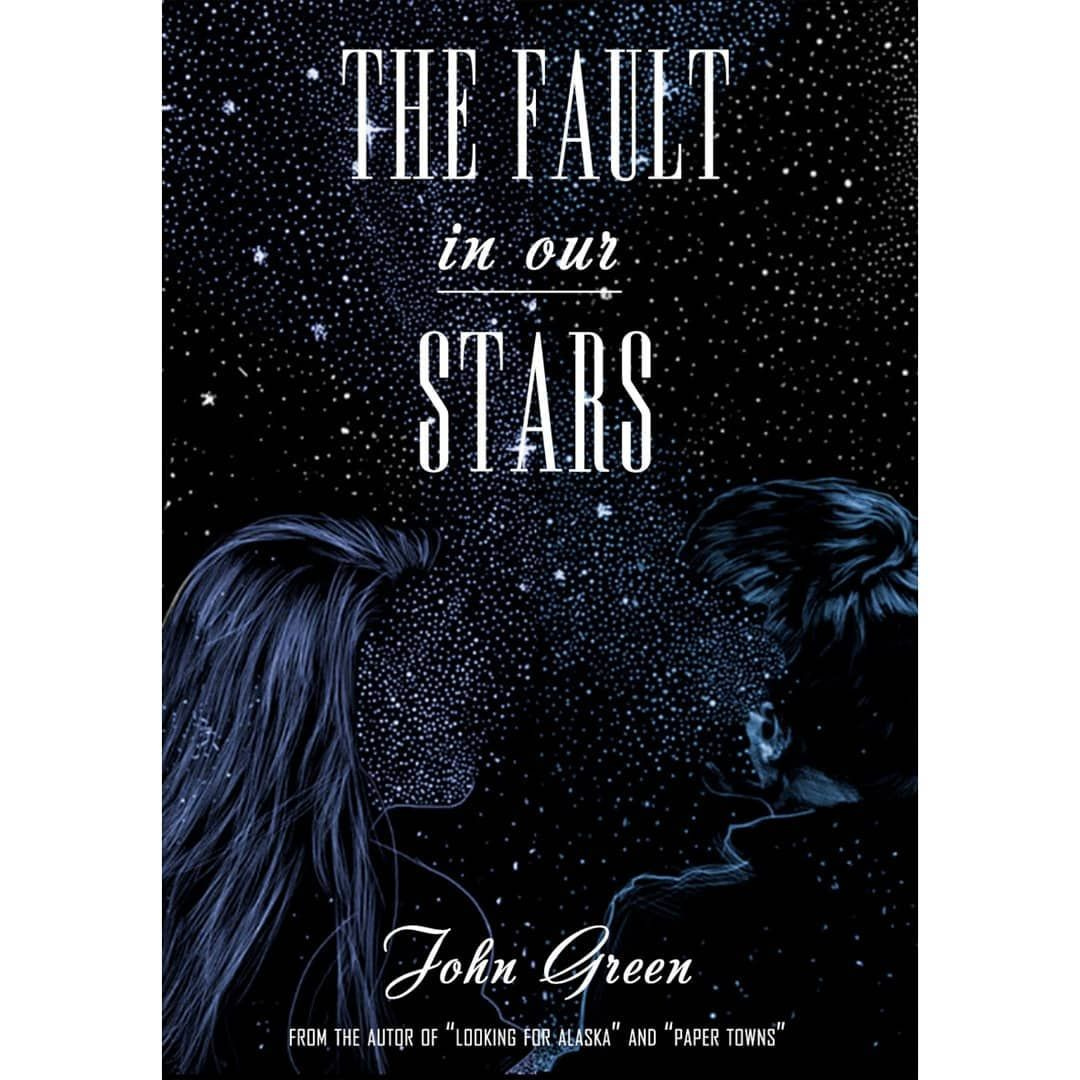 The fault in our stars book cover design TheFaultInOurStars JohnGreen  author book cover design … | Black white art, The fault in our stars, Book  cover design