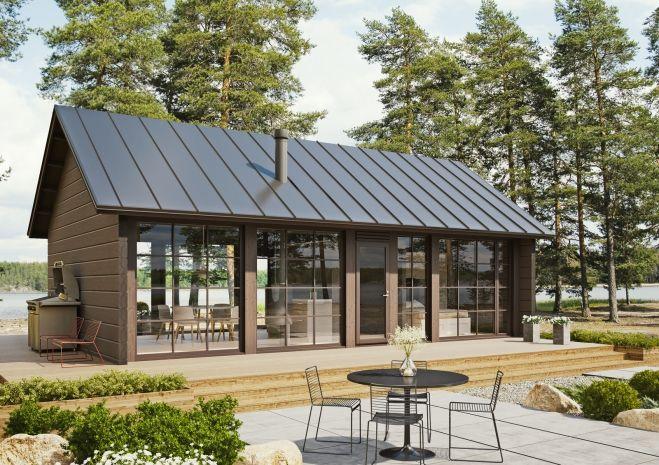 Modern log house