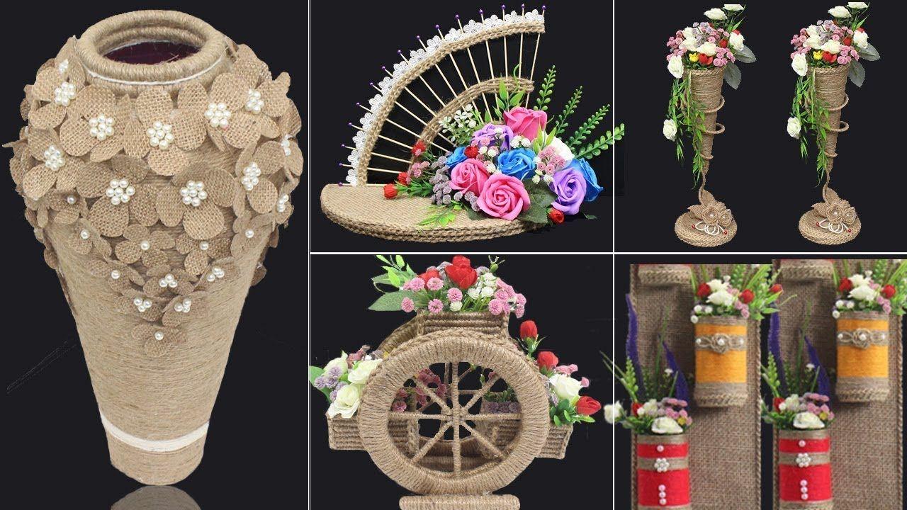 5 Jute craft ideas   Home decorating ideas handmade   #4 ...