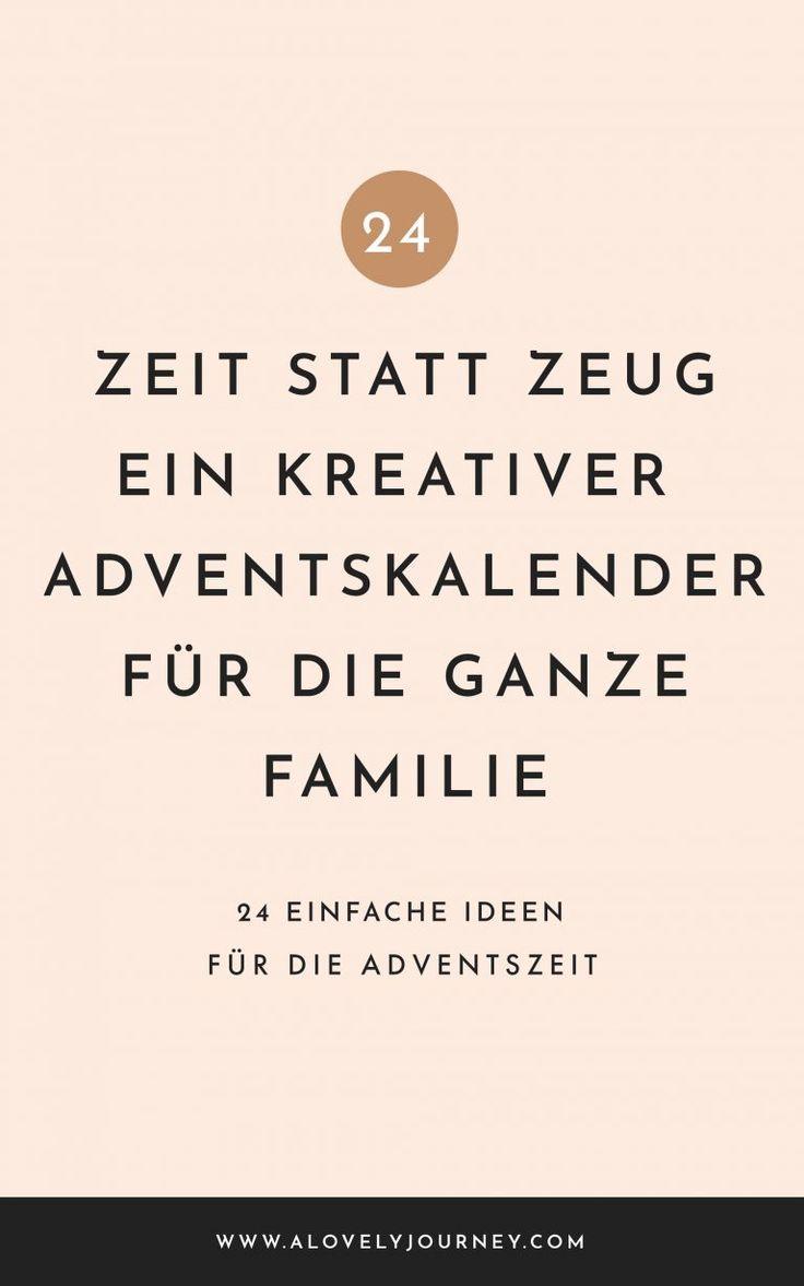 Zeit statt Zeug: Der Geschenk-freie Adventskalender für die ganze Familie #stuff