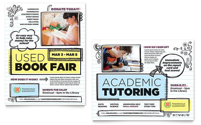 elementary school poster template design by stocklayouts college