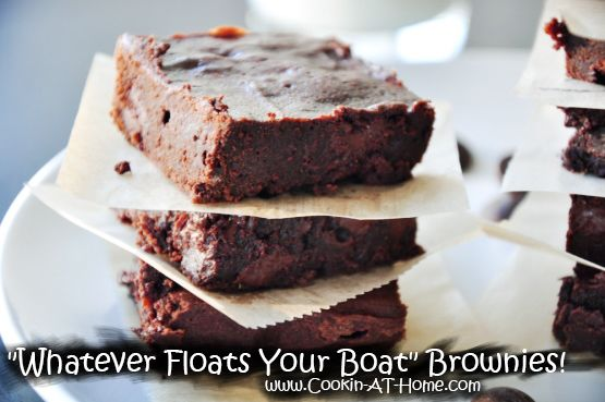 """""""Whatever Floats Your Boat"""" Brownies! 