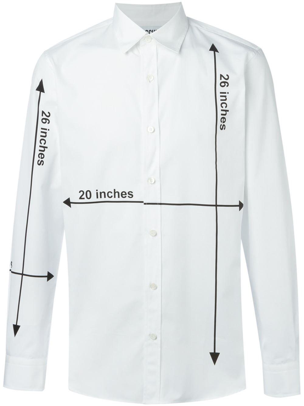 a5339a63dc9 Moschino Measurements Print Shirt - Stefania Mode - Farfetch.com ...