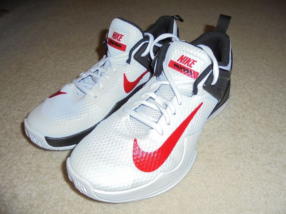 3fbfbbac0be43 NIKE AIR ZOOM HYPERACE WOMEN S VOLLEYBALL SHOES SIZE 6.5 WHITE RED 902367- 106