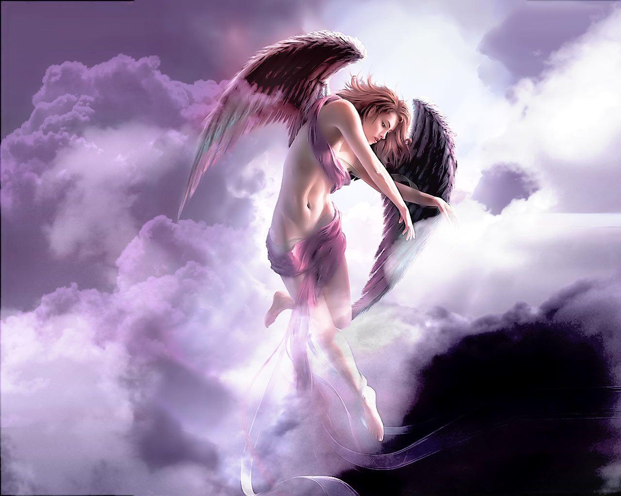 Beautiful Pink Angel Hd Wallpaper For Desktop Imagefully Com Engel Aartsengel Feeen