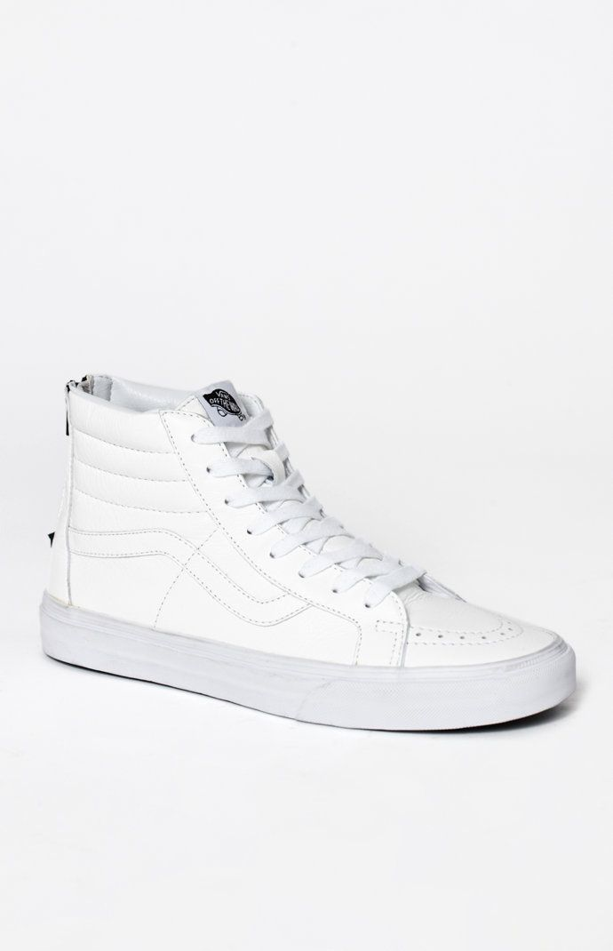 fd7e1ced8f Premium Leather Sk8-Hi Reissue Zip White   Black Shoes
