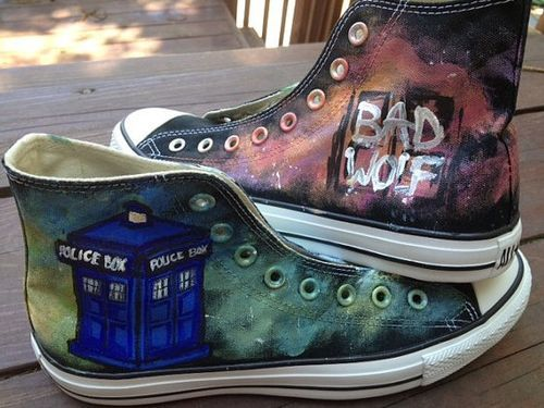103a709f1b9fe8 Doctor Who Shoes Hand Painted Shoes High-top Painted Canvas Shoe ...