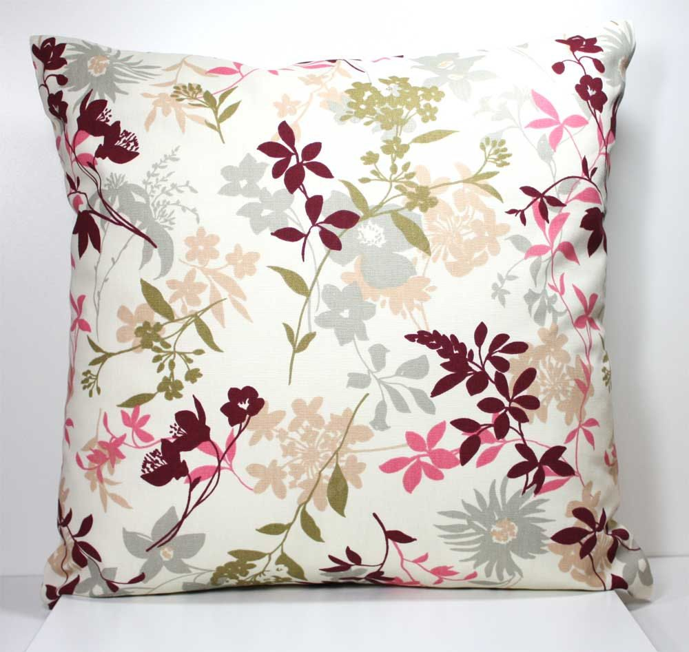 Decorative Throw Pillow Cover 18 x 18 Inch - Burgundy ...