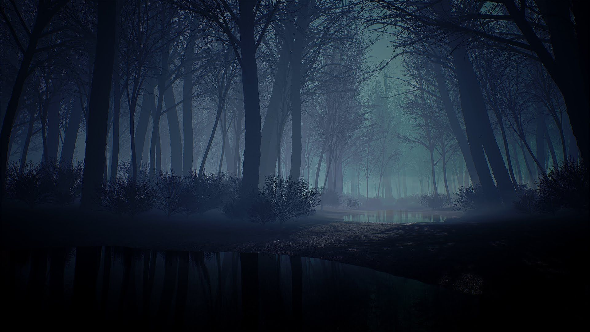A Quick Creepy Forest Environment In Ue4 Youtube Creepy Backgrounds Fantasy Forest Fantasy Castle