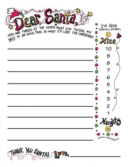 Dear Santa Printable Christmas Pinterest Navidad Cartas De