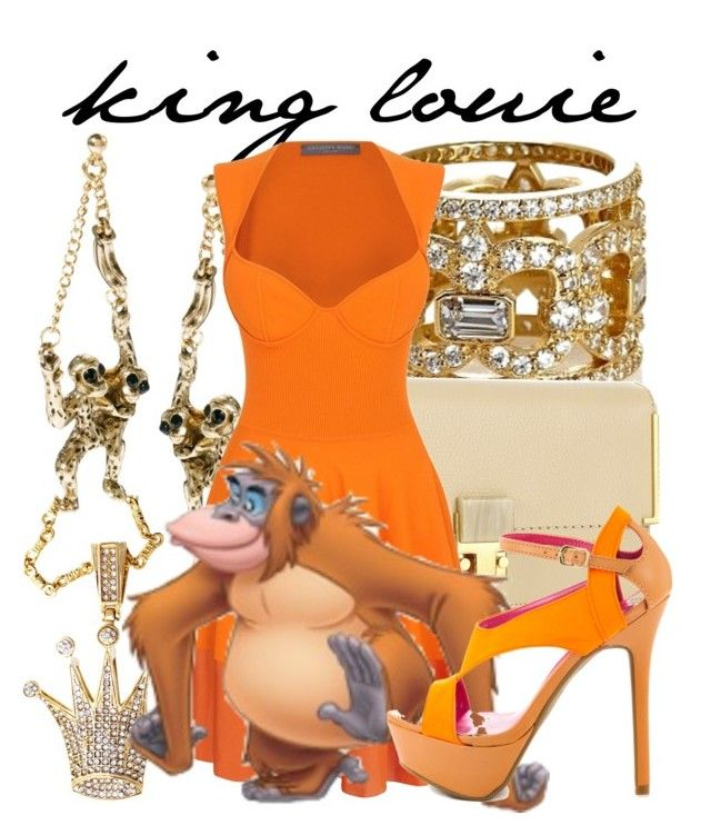 """""""King Louie"""" by niennamarie ❤ liked on Polyvore featuring Lanvin, ASOS, Alexander McQueen, King Louie and Shoe Republic LA"""