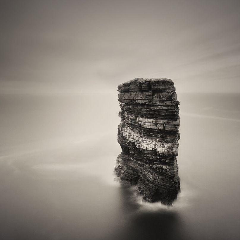 Dun Briste: By Joe Kennedy, more artworks https://www.artlimited.net/22598 #Photography #Nature #Scenery #Waterscape #lake
