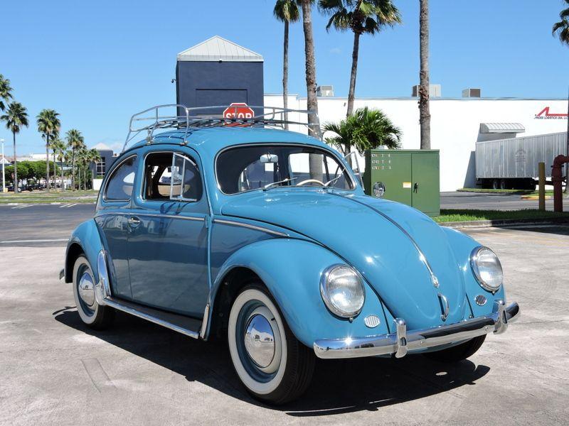 This 1953 Volkswagen Beetle is a rare Split Window \'Zwitter\' model ...