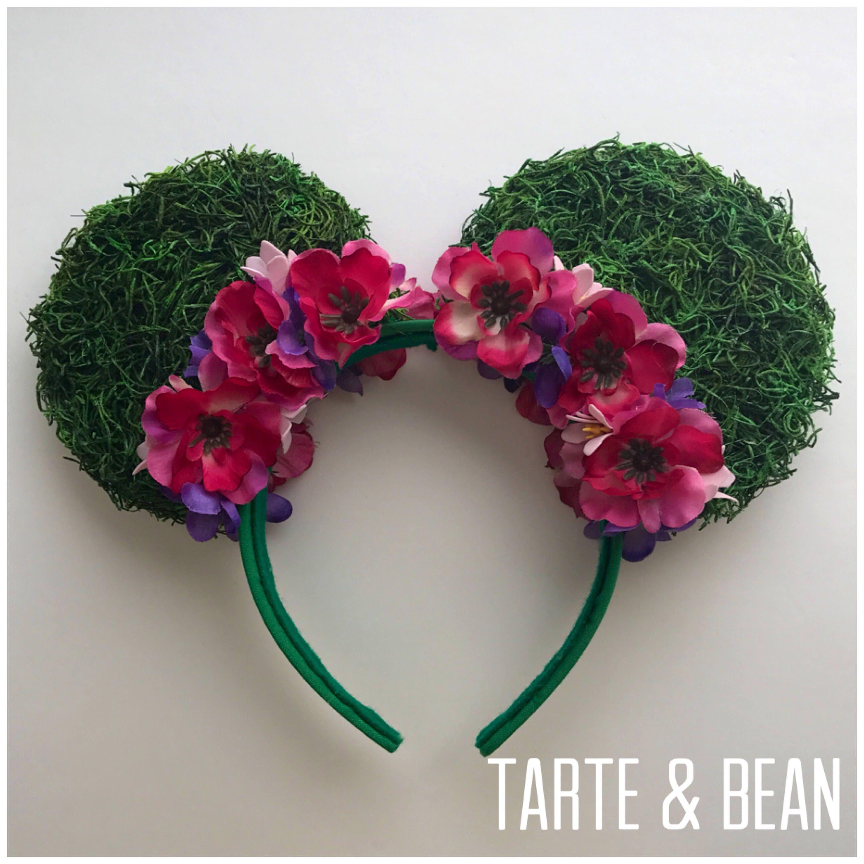 Island Inspired Te Fiti Tropical Hawaiian Flower Mouse Ears Headband