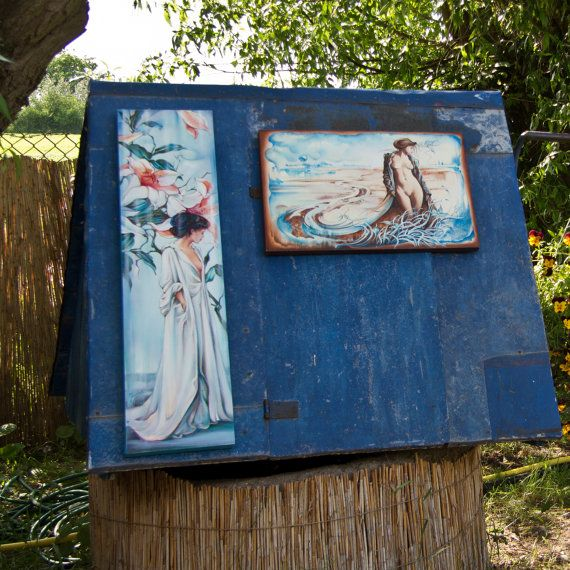 oil paintings by Anna Miarczynska -on the old well (from an open air exhibition....)