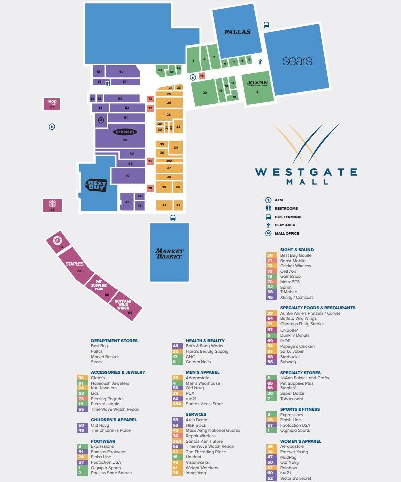 Westgate Mall Brockton Shopping Plan Westgate Brockton Mall