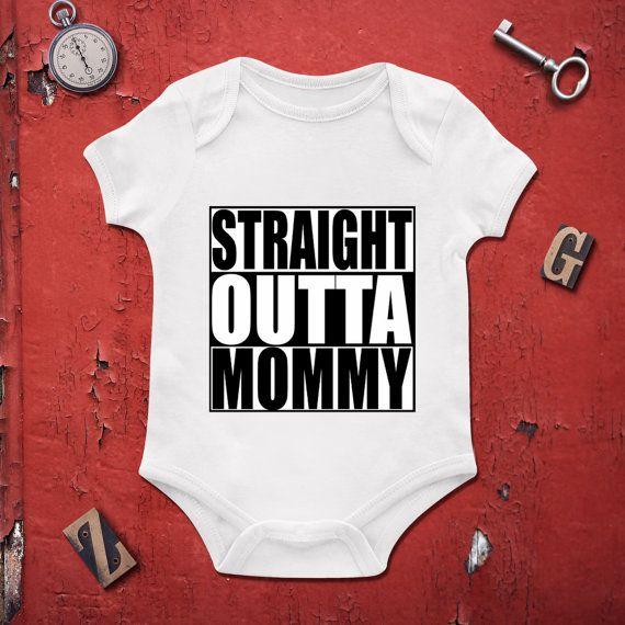 Straight Outta Mommy newborn bodysuit, Girls Onesie,baby clothing,Baby Bodysuit,Baby Girl Bodysuit,Wild Child Style, Baby Gift,Custom onesie