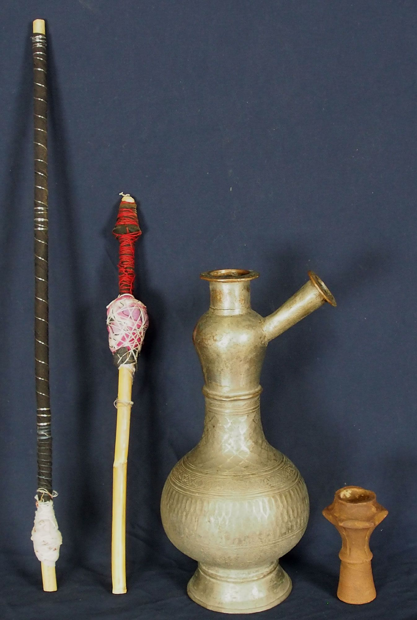 Antique Copper Hookah From Afghanistan