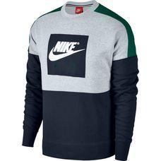 best service 9aac9 6d2d8 Nike CREW AIR FLC Sweatshirt Herren birch heather-green ...