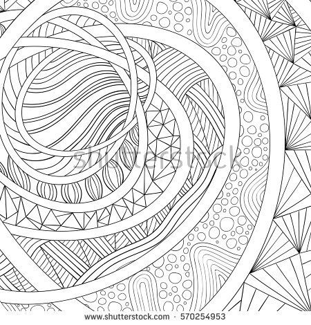 Decorative drawing. Zen tangle, isolated on white background. Hand drawn sketch for adult antis tress coloring page, T-shirt emblem, logo or tattoo with doodle, design elements.