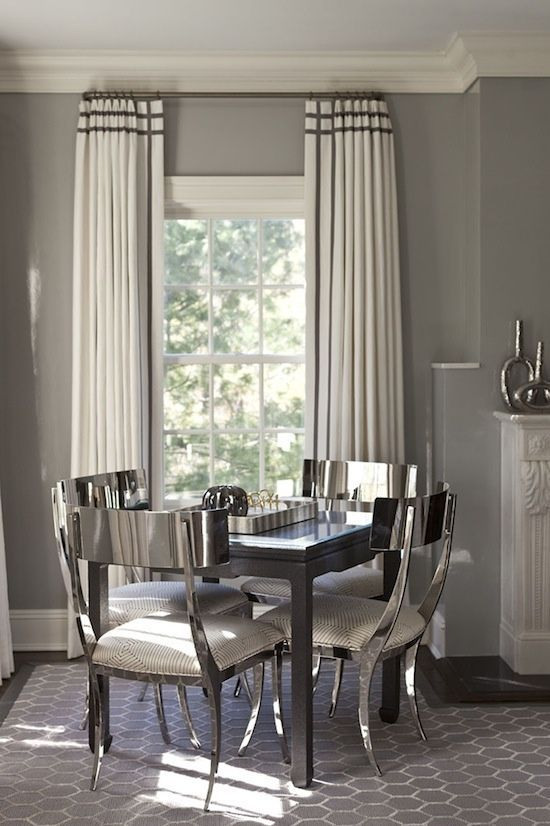 Decoration With Silver Highlights Decoration Highlights Silver Dining Room Curtains Art Deco Dining Room Home