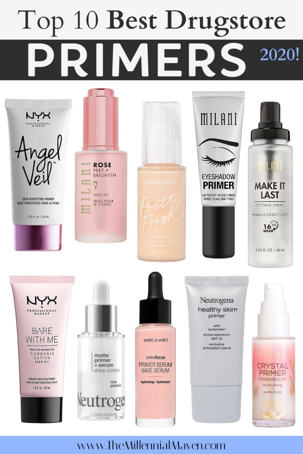 Updated 2020 Top 10 Best Face Eye Primers At The Drugstore Best Drugstore Primers The Millennial Maven In 2020 Best Drugstore Primer Drugstore Primer Best Face Products