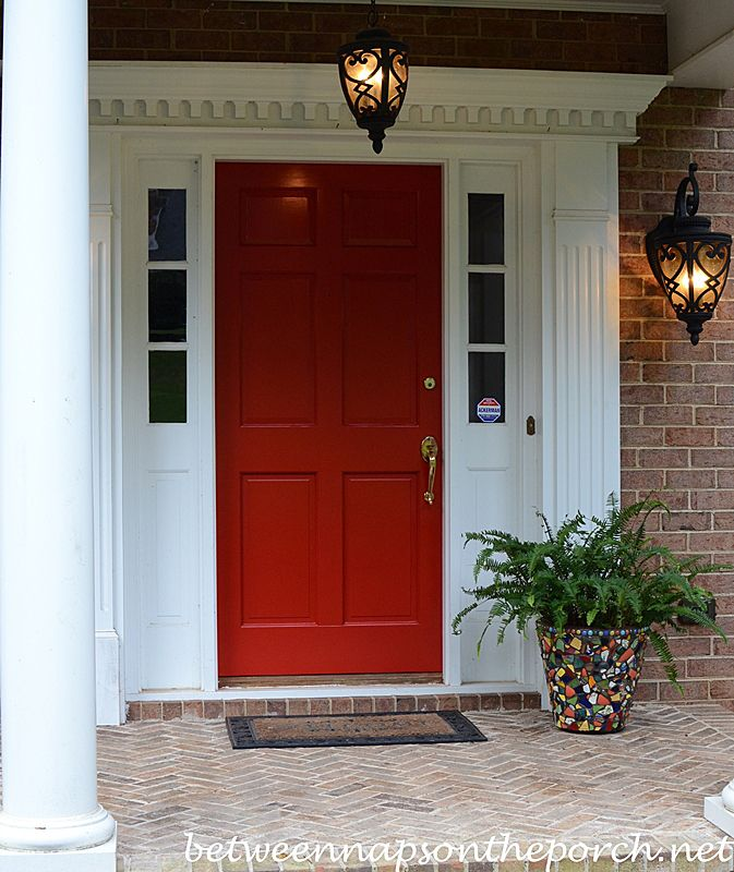 Paint Your Front Door Heritage Red Or Peacock Blue Painted Front Doors Exterior House Colors Front Door Landscaping