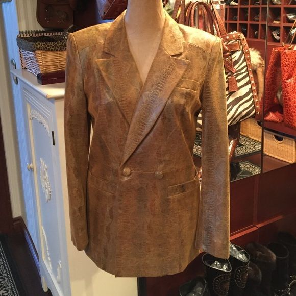 Gold Leather Blazer Sharp Gold Leather Blazer/jacket Cache Jackets & Coats Blazers
