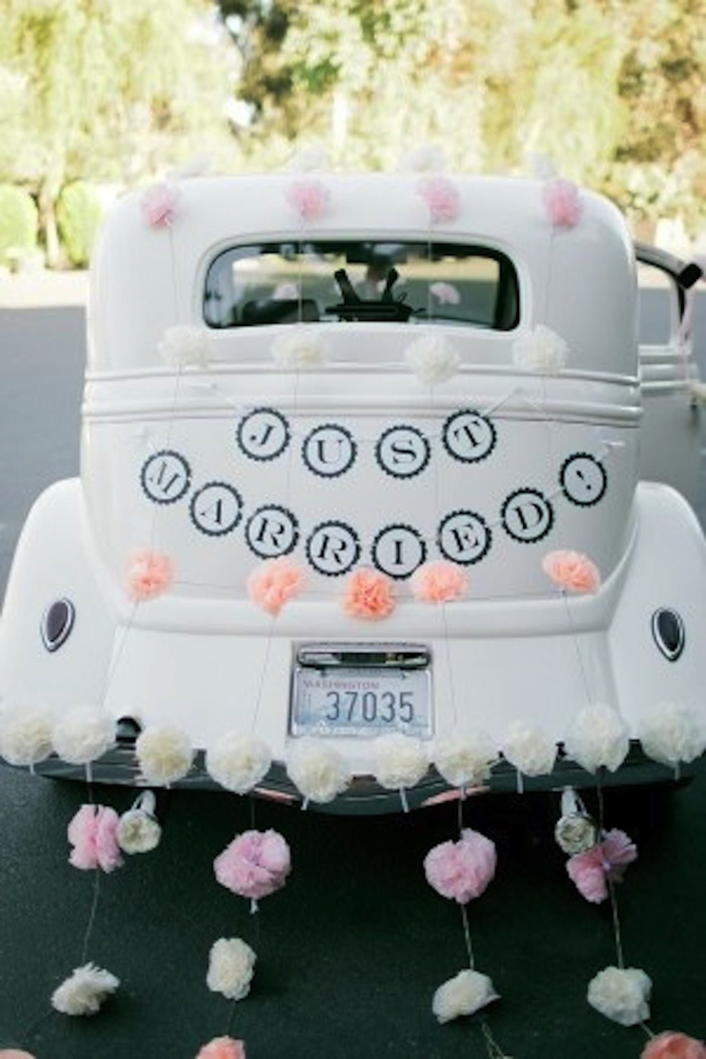 Wedding decorations for car  I love the car  Dream your day  Pinterest