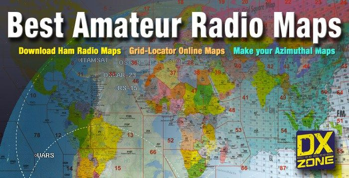Amateur radio maps to download, amateur radio web maps with