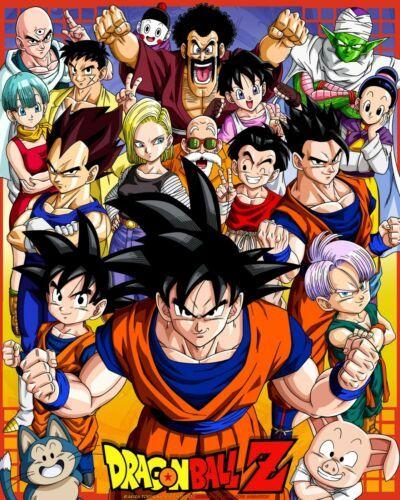 HIGH QUALITY Dragon Ball Z Goku Vegeta Piccolo Gohan Trunks & More Poster Anime