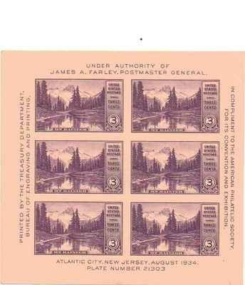 American Philatelic Society Sample Sheet X 3 Cent US Postage Stamps NEW Scot 770 44999