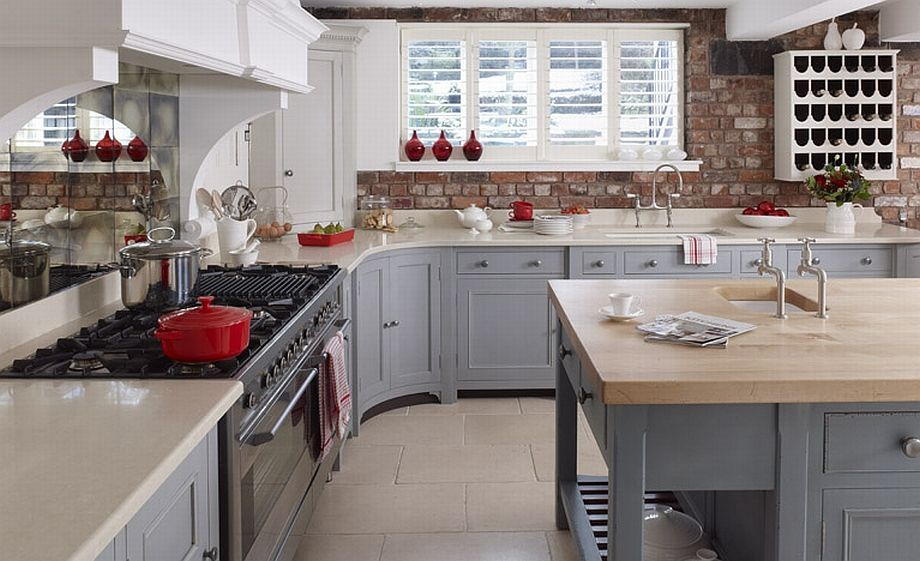 Gray Color Cabinets White Modern Kitchen