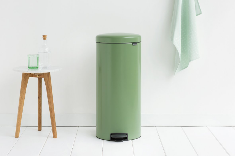 Poubelle A Pedale Newicon 30 Litres Moss Green Garbage Can