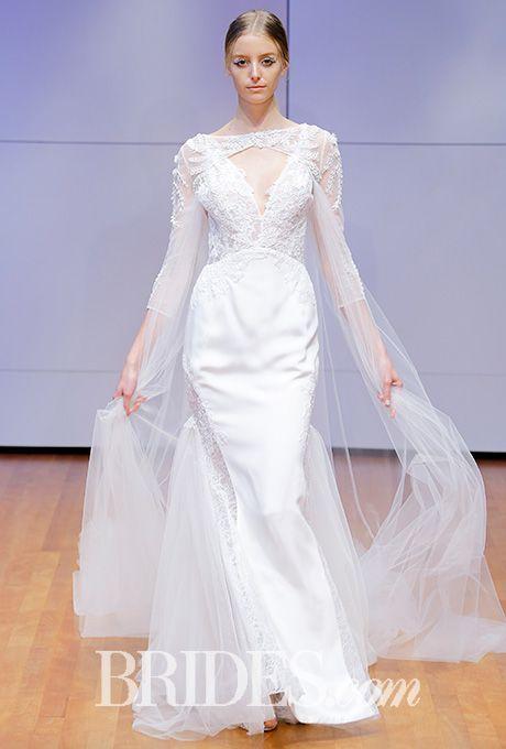 Tendance Robe du mariée 2017/2018 - Lace sheath wedding dress with ...