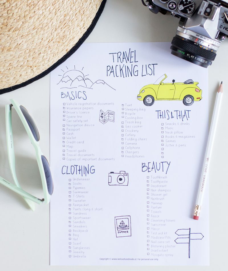 DIY: Road Trip Travel Checklist & Hacks – we love handmade