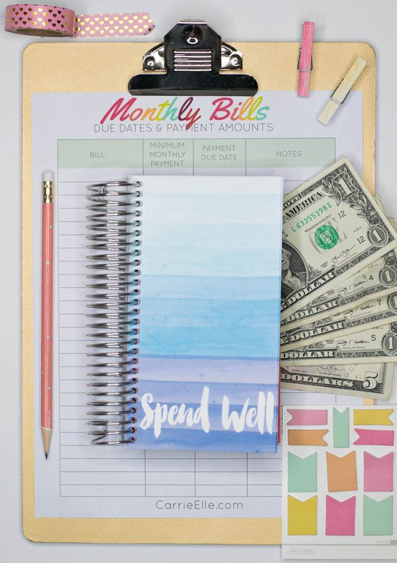 Spend Well Budgeting System Rainy Day Organization Pinterest - how to make a monthly budget spreadsheet