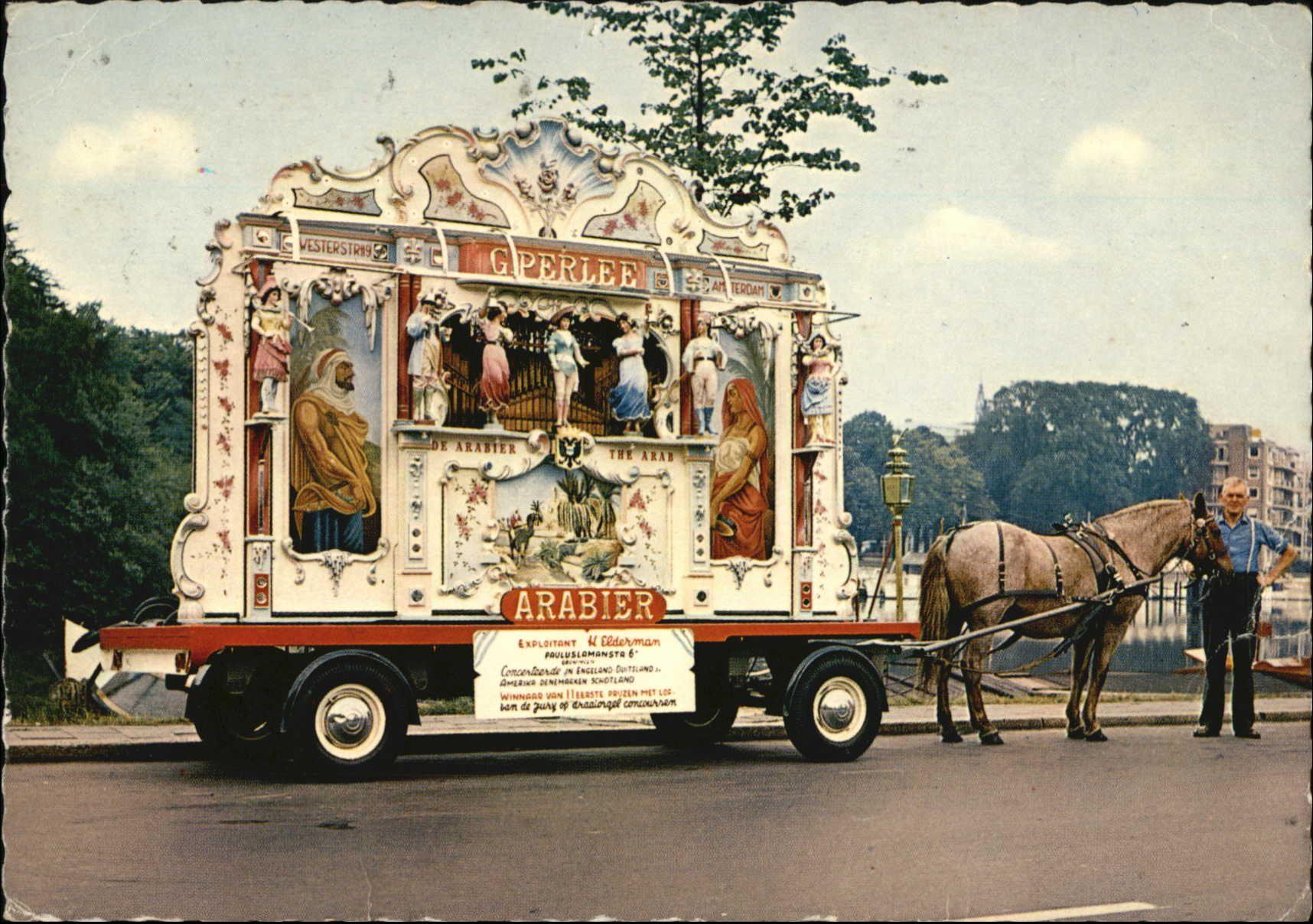 Groningen Draaiorgel De Arabier Poststempel 1968