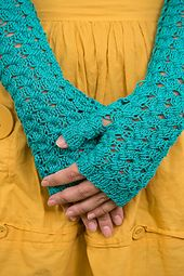 Ravelry: Azure Dreams Fingerless Mitts pattern by Rosann Fleischauer