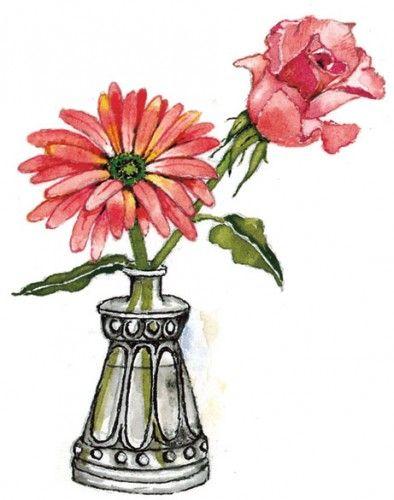 a pretty vase | Susan Branch en 2018 | Pinterest | Ilustraciones ...