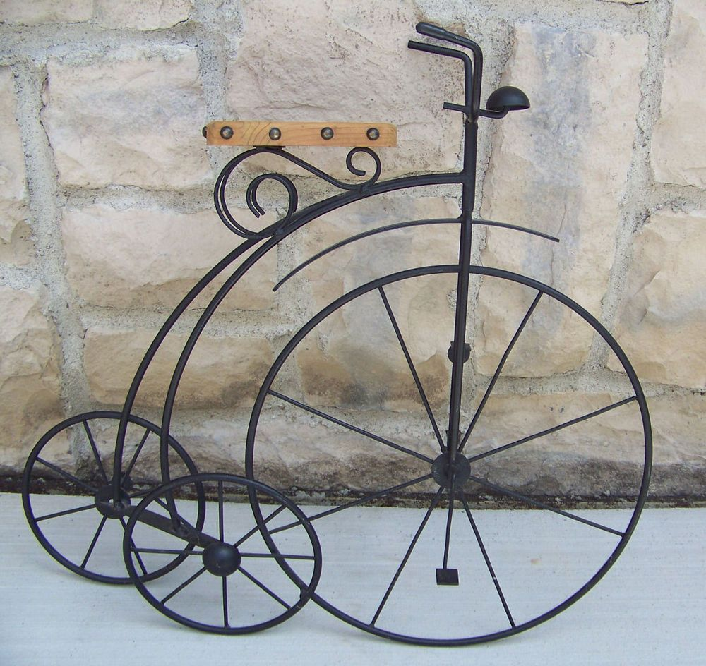 Black Wrought Iron Wall Art Fair Velocipede Black Wrought Iron Wall Hanging Or Can Be Placed On Design Inspiration