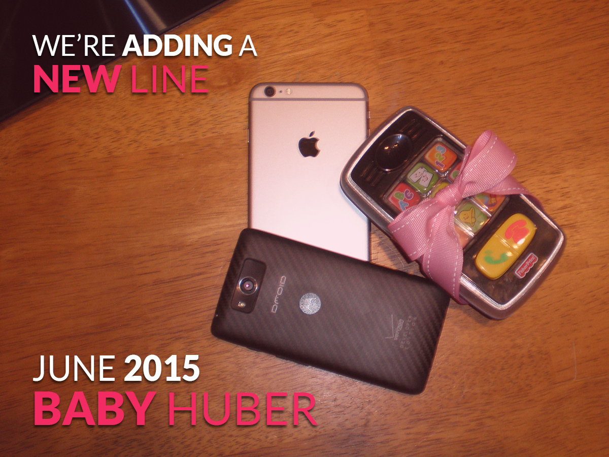 Our creative pregnancy announcement. We're adding a line :)