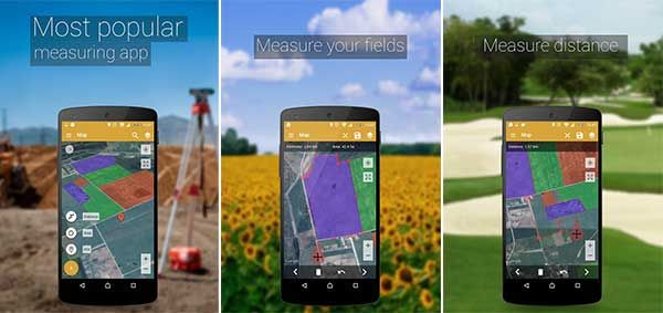 GPS Fields Area Measure App, Samsung galaxy phone