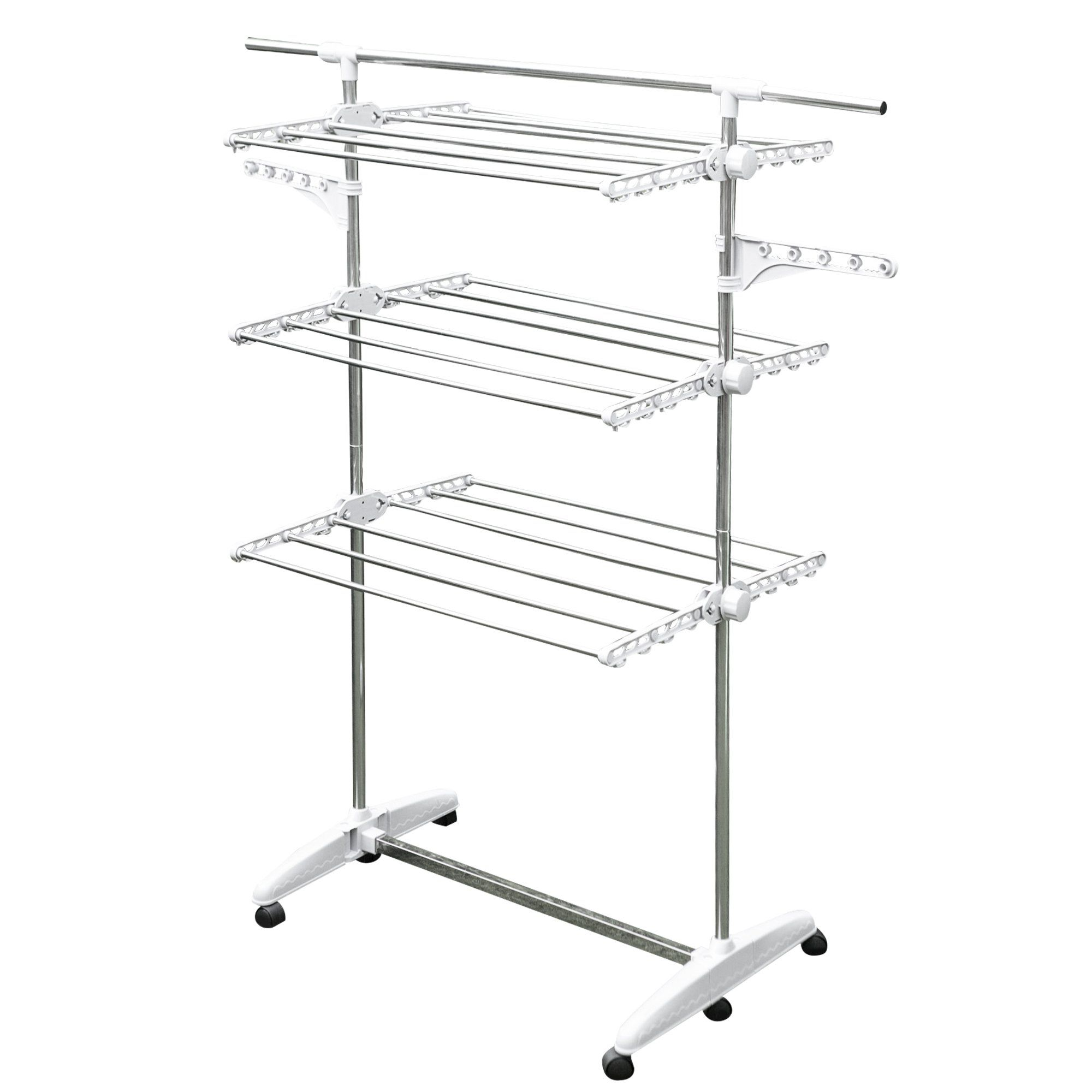 Stainless Drying Clothes Rack Portable Rolling Drying Rack For