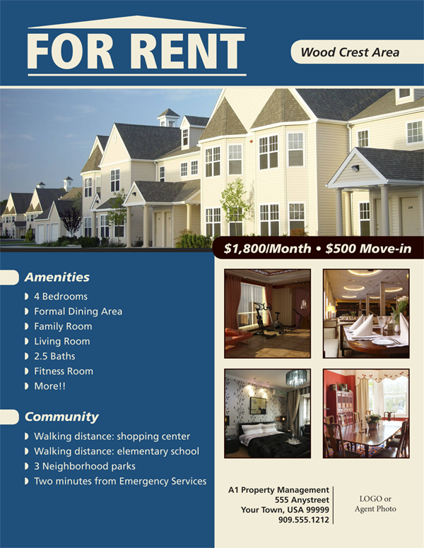 Flyers For House Renting Flyer Www For Rent Flyer Pinterest - For lease flyer template