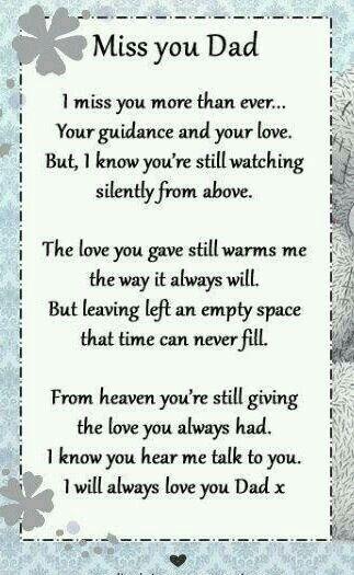 Pin by Deborah Acosta on grief   Daddy quotes, Dad poems
