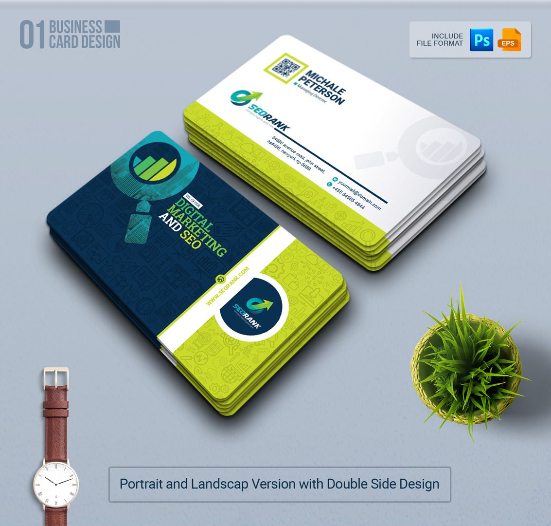 Branding Stationery Bundle For Seo And Digital Marketing Agency Or Company 66283 Marketing Business Card Landscaping Business Cards Digital Marketing Business