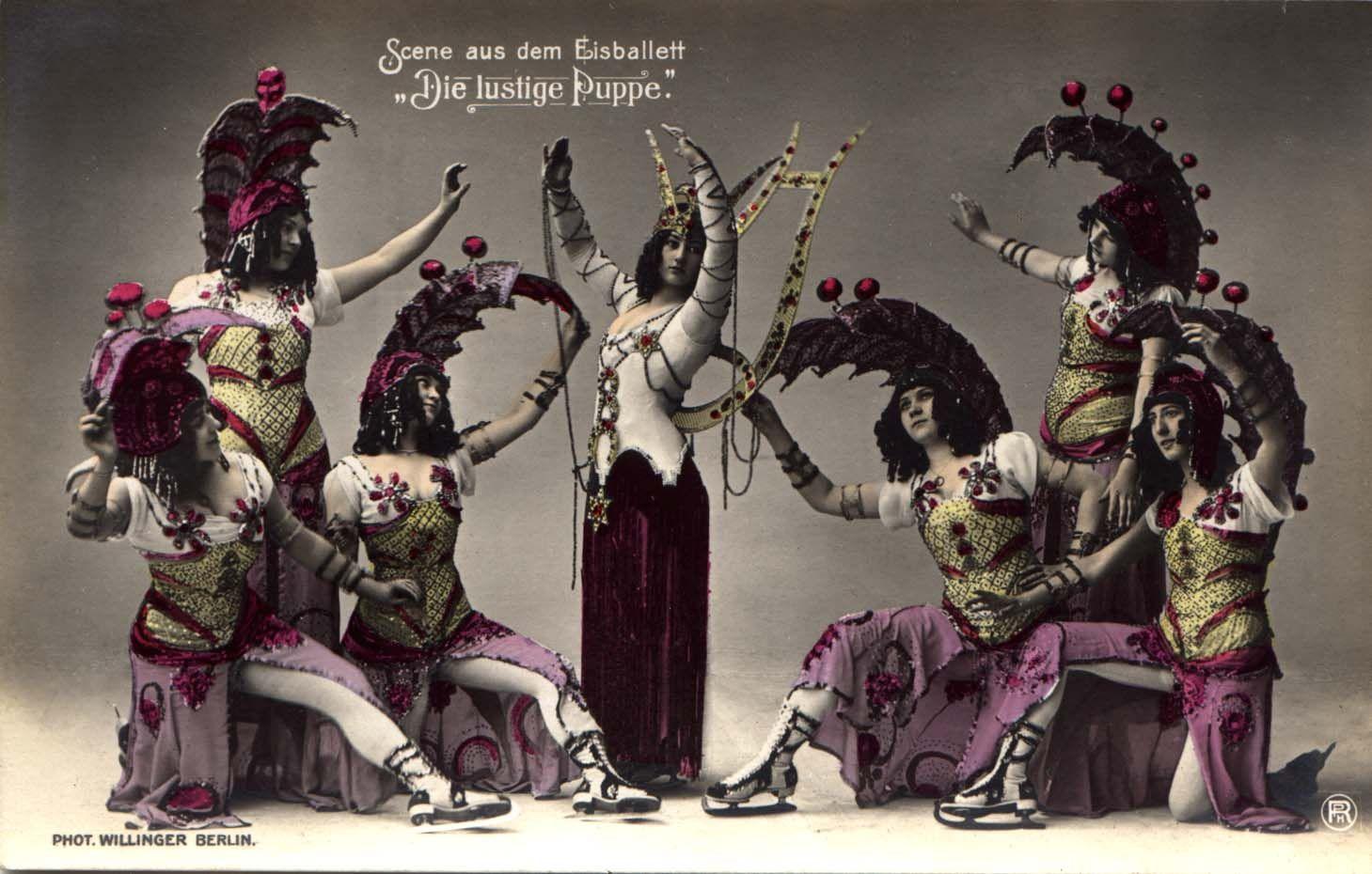 Ice ballett 'The Funny Doll'. 1911